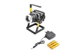 Proiector LED cu acumulator+suport