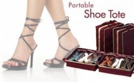 Geanta organizatoare pentru 6 perechi de pantofi