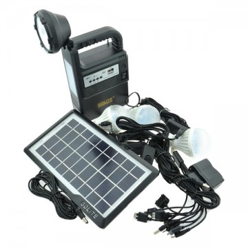 Kit Solar cu 3 becuriLED/ lampa LED si reflector