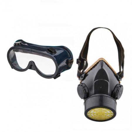 Masca de protectie cu filtru de carbon activ, cadou ochelari de protectie