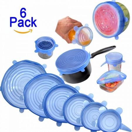 Set 6 capace din silicon, diverse dimensiuni