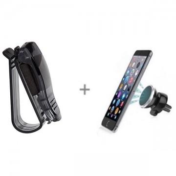 Suport magnetic telefon+Suport auto ochelari