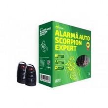 Alarma auto Scorpion Expert cu 2 telecomenzi