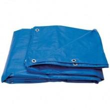 Prelata albastra impermeabila 5x6m- 130g/mp
