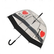 Umbrela transparenta I LOVE RAIN