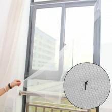 Set 2 x plasa pentru fereastra impotriva insectelor, dimensiune 130x150cm, culoare ALB