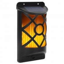 Lampa LED decorativa cu incarcare solara si efect de flacara, culoare negru