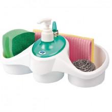 Uscator vesela cu tavita de scurgere + Dispenser detergent de vase