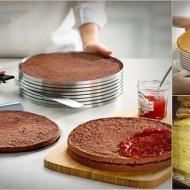 Feliator reglabil pentru blat de tort 16 si20 cm