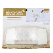 Suport plastic cu ventuze pentru periute si pasta de dinti