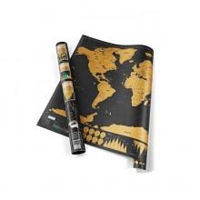 "Harta razuibila a lumii ""Am fost acolo"", dimensiune 82,5 x 59,4 cm"