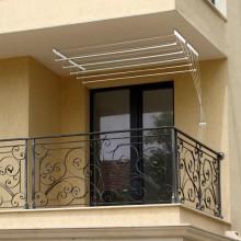 Uscator de rufe, metalic, cu 5 linii de 1,4m cu prindere pe tavan
