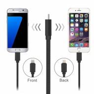 Cablu de incarcare 2in1 pentru IOS si Android