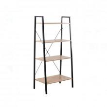 Etajera cu 4 rafturi din lemn si cadru metalic, dimensiuni 60x32,5x148 cm