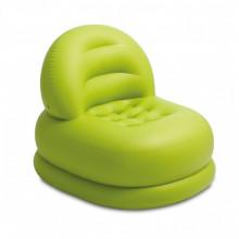 Fotoliu gonflabil cu spatar, culoare verde si alb