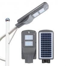 Lampa stradala putere 60W cu incarcare solara si acumulator