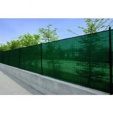 Plasa verde pentru gard 1x10m, grad de umbrire 85%. Cadou set 10 clipsuri triunghiulare pentru fixare