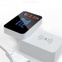 Încărcător wireless multi-port, USB tip-C cu încărcare rapidă