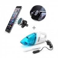 Aspirator Auto + Suport magnetic pentru telefon