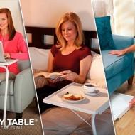Masa din plastic cu suport metalic