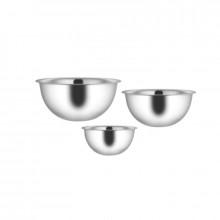Setul de 3 boluri din inox, cu diametru de 18, 22, 26 cm, GR2961