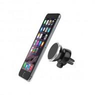 Suport magnetic pentru telefonul mobil, cu prindere pe grila de ventilatie a masinii
