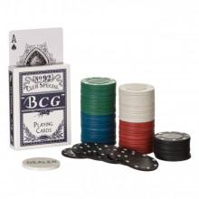 Set Poker cu 200 jetoane in servieta aluminiu