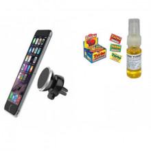 Suport magnetic pentru telefonul mobil + Esenta parfum Guma Turbo pe baza de ulei