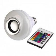 Bec led Smart  Bluetooth cu difuzor 7W si telecomanda, dulie normala E27