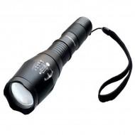 Lanterna LED Tac Light cu 5 moduri de iluminare, lupa si zoom, rezistenta la apa