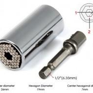 Set cheie tubulara universala cu clichet din otel inoxidabil 7-19mm. Vezi video!!!