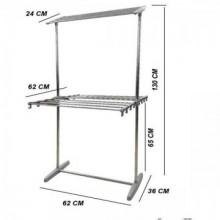 Uscator de rufe vertical, cu 2 niveluri, pliabil