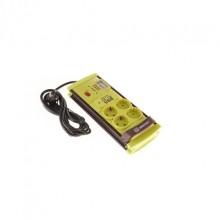 Prelungitor cu 4 prize si 2 USB, buton ON/OFF, indicator voltaj, cablu 2 metri