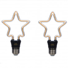 Set 2 lămpi decorative Star, 4W, E27