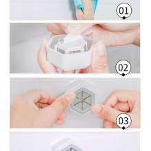 Set 4 agătători inteligente cu bandă adezivă pentru prosoape