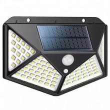 Set 4 lampi cu 100 led-uri si incarcare solara