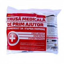 Trusa medicala de prim-ajutor, 2 x triunghi, stingator, vesta si geanta depozitare
