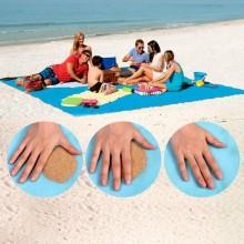 Cearsaf special pentru plaja ce nu retine nisipul, dimensiune 200x200cm, culoare ALBASTRU