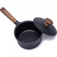 Cratita cu capac si maner, 16 cm, 1.5L (Negru) Taste of Home by Chef Sorin Bontea