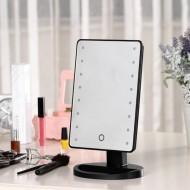 Oglinda cosmetica cu 16 leduri, touch screen si rotire 360 grade