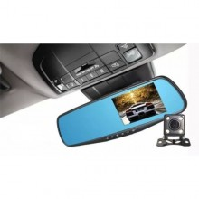 Oglinda retrovizoare cu camera FullHD fata-spate, ecran 4,3 inch, functie night vision