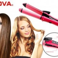 Placa par 2 in 1 Hair Beauty Set For Straight / Curl Hair.