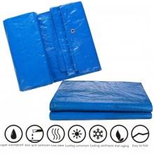 Prelata albastra impermeabila 2x3m 80g/mp