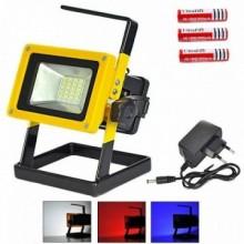Proiector portabil LED cu acumulatori si lumini colorate