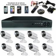 Sistem supraveghere video 8 camere cu optiune vizionare de pe telefon