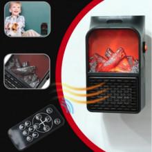 Aeroterma portabila, putere 500W, display digital temperatura _ telecomanda