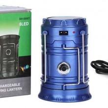 Felinar Camping LED Reincarcabil cu Lanterna, Panou Solar si USB