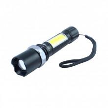 Mini lanterna LED cu 3 trepte iluminare si incarcare prin USB