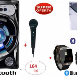 SET :Ceas SMARTWATCH TELEFON cu Sim si camera foto + Boxa Bluetooth profesionale cu Acumulator ,Usb,Radio Fm + CADOU Microfon!