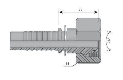 PRIKLJUCAK ''A'' (DKOL) NP10 M16X1,5 10L